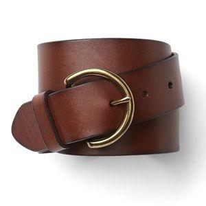 Gap Brown Leather Contour Belt - Size M